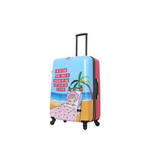 "Halina Aunty Acid Trip 28"" Cartoon Graphic Luggage-HALINA - Made with Love"
