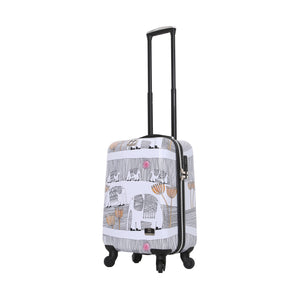 "Halina Valerie Valerie ELEPHANTS 20"" Carry On Elephant Luggage (Lock Version)-HALINA - Made with Love"