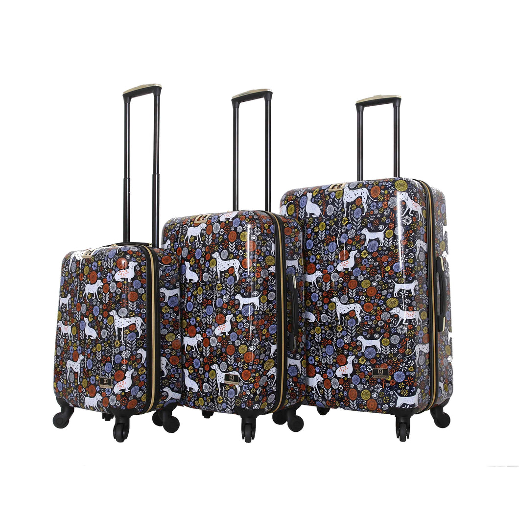 Halina Vicky Yorke URBAN JUNGLE DOGS 3 Piece Luggage Set-HALINA - Made with Love