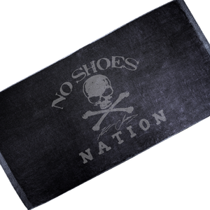 No Shoes Nation Black Beach Towel
