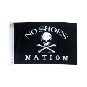 "Kenny Chesney No Shoes Nation BLACK Flag-11"" X 18"" Boat Flag w/ Grommets"