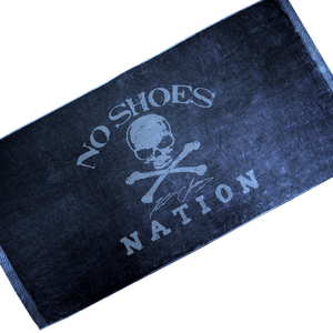 No Shoes Nation Navy Beach Towel