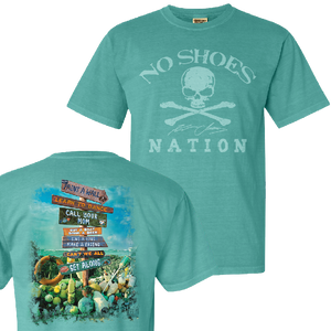 No Shoes Nation Seafoam Lyric Tee