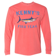 Load image into Gallery viewer, Kenny's Fish Team Long Sleeve Guava Tee