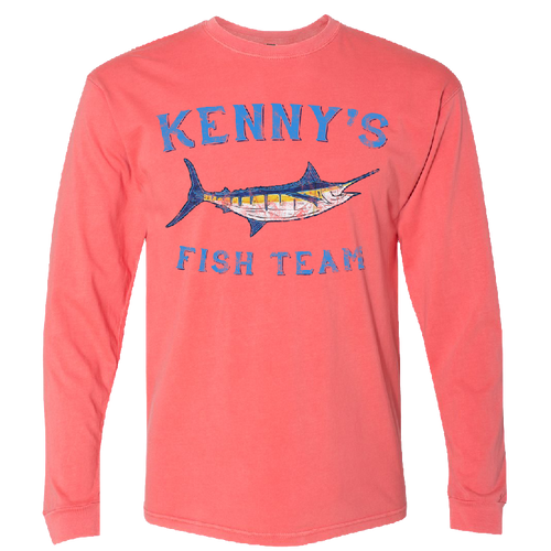 Kenny's Fish Team Long Sleeve Guava Tee