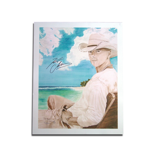 KENNY CHESNEY 2008 TIM HOLT COLOR PRINT