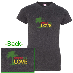 "KENNY CHESNEY LADIES ""SPREAD THE LOVE"" VINTAGE SMOKE TEE"