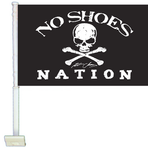 "KENNY CHESNEY NO SHOES NATION BLACK FLAG-10.5"" X 15"" CAR FLAG"