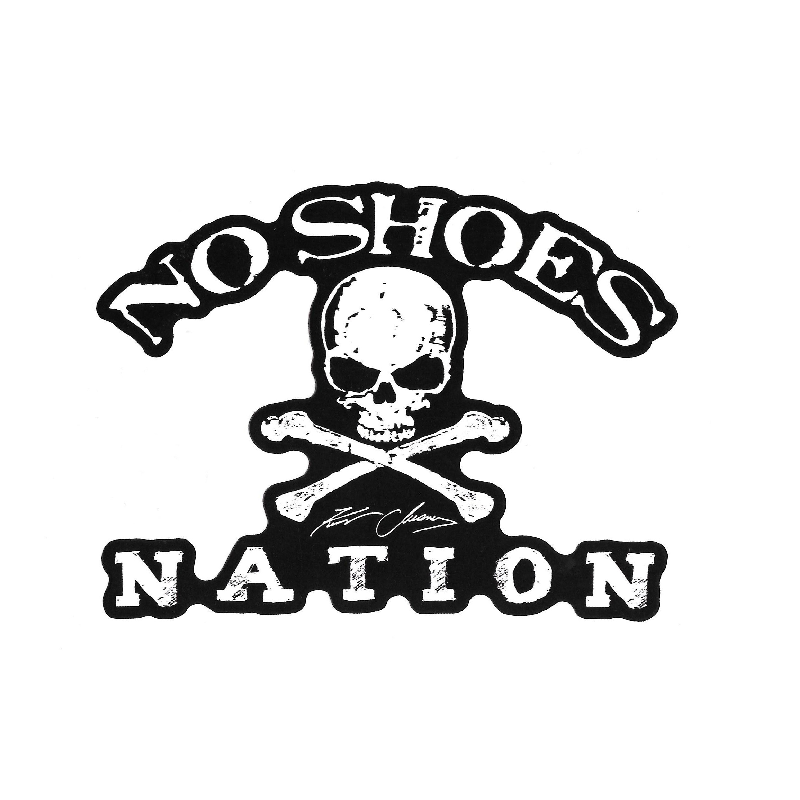 KENNY CHESNEY NO SHOES NATION DIE CUT DECAL