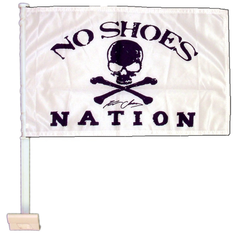 "KENNY CHESNEY NO SHOES NATION WHITE FLAG-10.5"" X 15"" CAR FLAG"