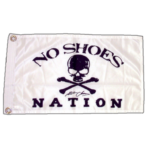 "KENNY CHESNEY NO SHOES NATION WHITE FLAG-11"" X 18"" BOAT FLAG W/ GROMMETS"