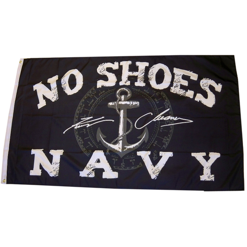 KENNY CHESNEY NO SHOES NAVY 3X5 FLAG