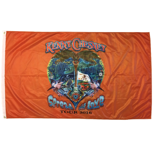 KENNY CHESNEY SPREAD THE LOVE 3X5 FLAG