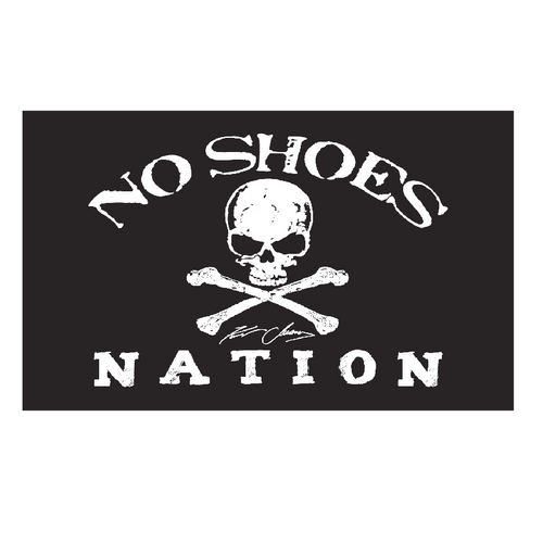 Kenny Chesney No Shoes Nation BLACK Flag-3' X 5' Large Flag w/ Grommets