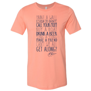 "Kenny Chesney Sunset ""Get Along"" Tee"