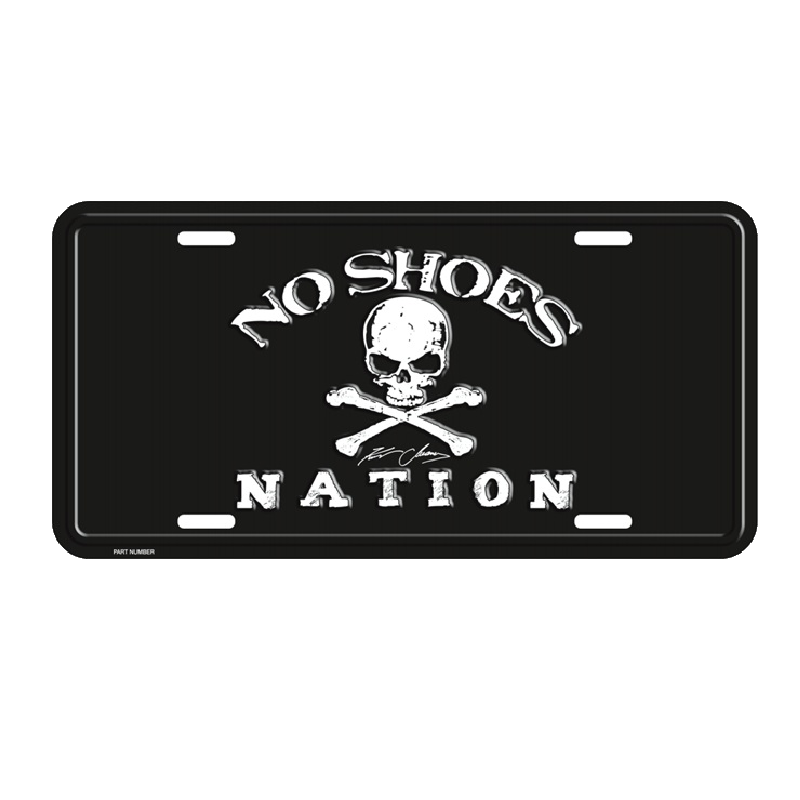 NO SHOES NATION EMBOSSED LICENSE PLATE