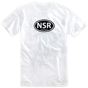 No Shoes Radio White Tee w/ Black Logo