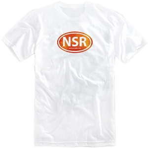 No Shoes Radio White Tee w/ Orange Logo