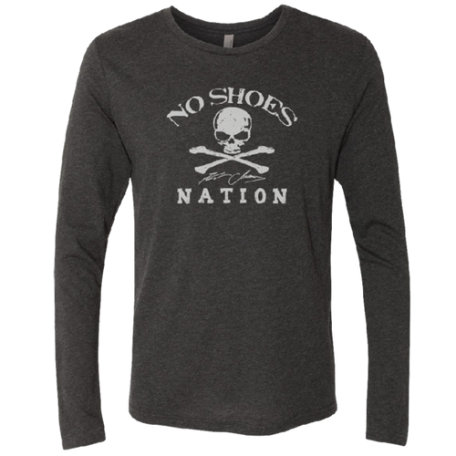 No Shoes Nation Long Sleeve Vintage Black Tee