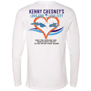 OFFICIAL KENNY CHESNEY LOVE FOR LOVE CITY LONG SLEEVE TEE