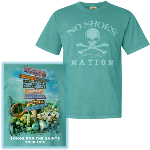 Songs For the Saints Seafoam Tour Tee