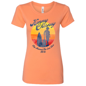 TRIP AROUND THE SUN LADIES LIGHT ORANGE TEE