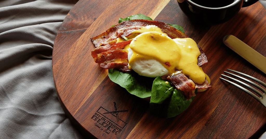 Bacon bagel benedict Recipe