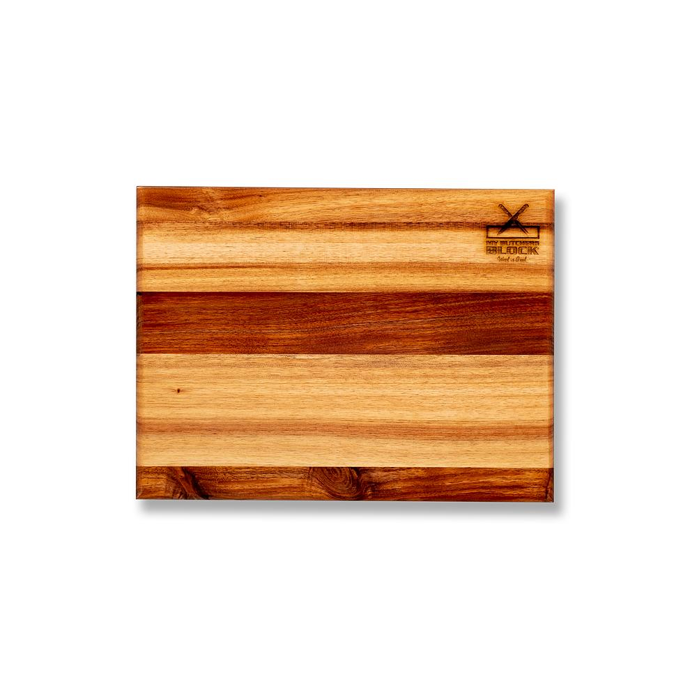 Basic Wooden Cutting Board Chopping Boards My Butcher's Block 400mm x 300mm x 20mm Brown Kynsna Blackwood