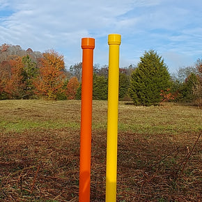 Colored weave poles
