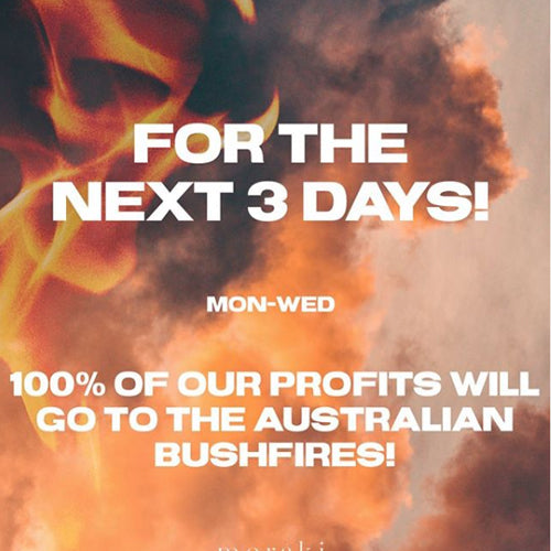 AUSTRALIA IS BURNING! | We are donating 100% of our profits for the next 3 days!!