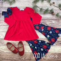 Red Holly Pants Set