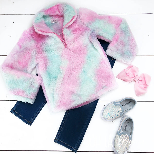 Pink Cotton Candy Pullover