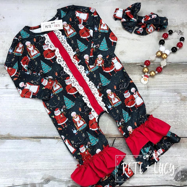 Mr. & Mrs. Claus Romper