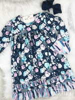 Navy Poppy Dress