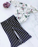 Black & White Stripe Bell Bottoms