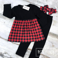 Red Buffalo Plaid Pants Set
