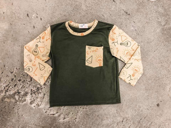 Olive Green Einstein Shirt