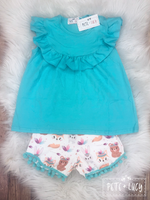 Aqua Animal Short Set