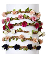 Braided Leather Floral Headband