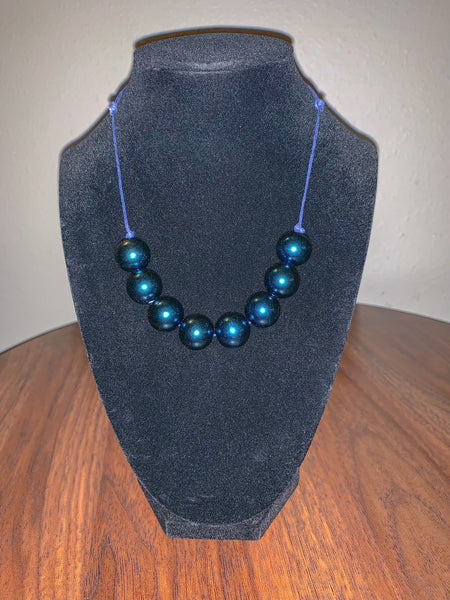 Midnight Blue 8 bead necklace