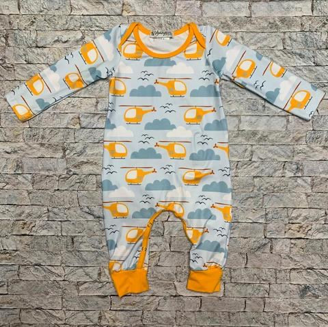 Helicopter Boys Romper