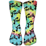 SARA NELL Classics Compression Socks Fuck Tie-dye Personalized Sport Athletic 30cm Long Crew Socks For Men Women