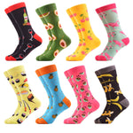 WeciBor Women's Funny Casual Combed Cotton Socks Packs (058-37)
