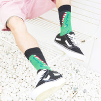 WeciBor Men's Novelty Bright Funny Fruit Food Pattern Colorful Dress Casual Socks Pack,052-63,Large, (Unisex US 7.5-12)