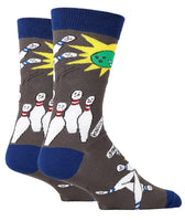 Oooh Yeah Men's Crew Funny Novelty Socks Spare Me Bowling