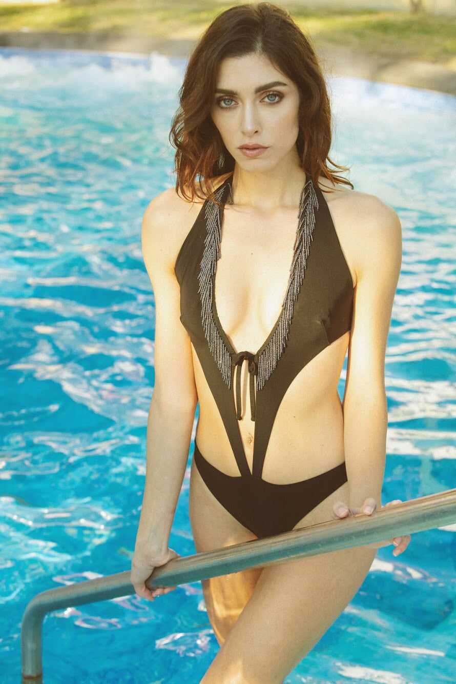 Butterfly (with Pearls) - Black