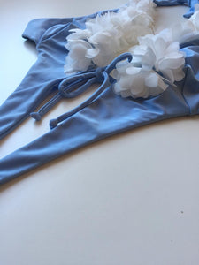 Butterfly (with Flowers) - Cotton Blue