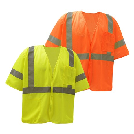 GSS SAFETY 2003/2004 STANDARD CLASS 3 MESH HOOP & LOOP SAFETY VEST