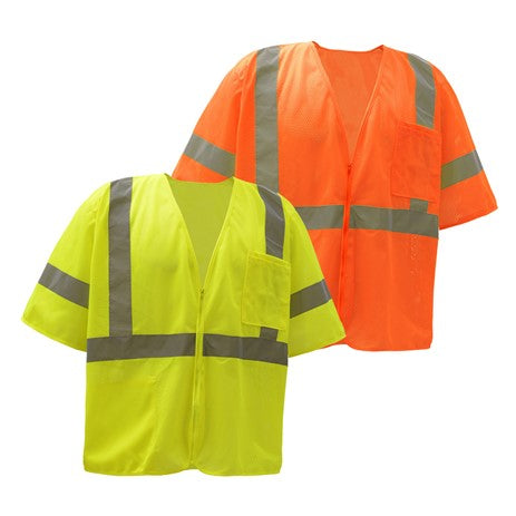 GSS SAFETY 2001/2002 STANDARD CLASS 3 MESH ZIPPER SAFETY VEST