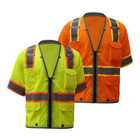GSS SAFETY 2701/2702 PREMIUM CLASS 3 BRILLIANT VEST